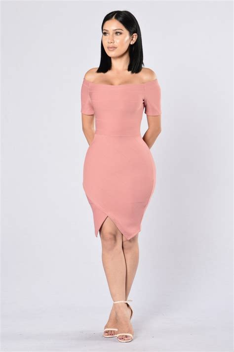 Light Pink Bandage Dress by Made For You Dress Mauve