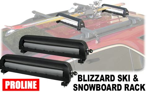 proline roof rack proline bizzard ski and snowboard car roof rack