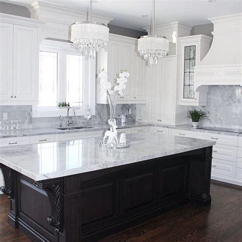 walnut kitchen island  superwihite quartzite