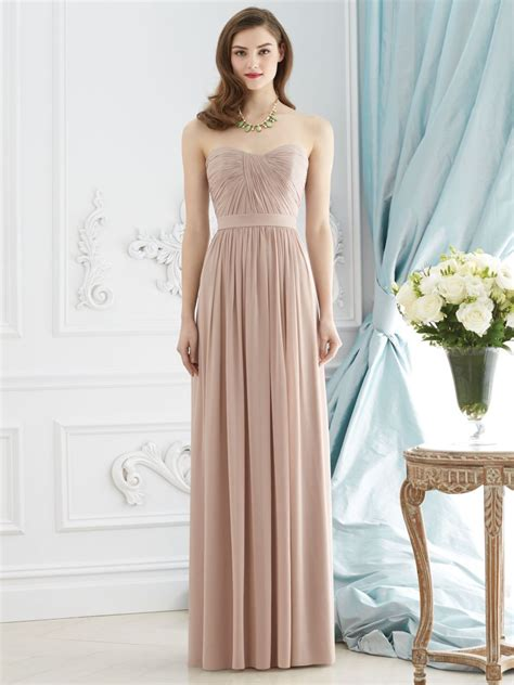 dessy collection  ruched bridesmaid gown french novelty