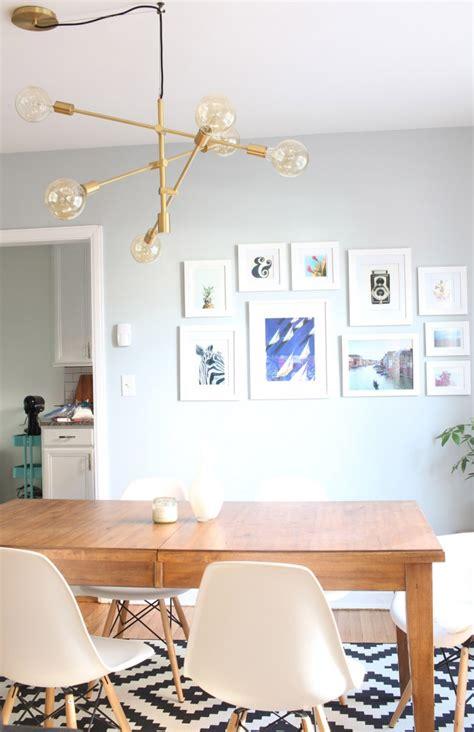 off center dining room light design evolving mid century modern dining room my new