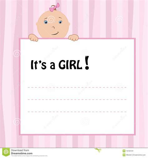 birth announcement card stock vector illustration