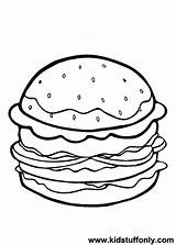 Coloring Cheeseburger Hamburger Pages Printable Sheet Burger Template Clip Drawing Getcolorings Meat Getcoloringpages Getdrawings Outline Fry sketch template