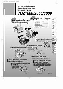 Vqz  1000  2000  3000 Series  5 Port Solenoid Valve Metal