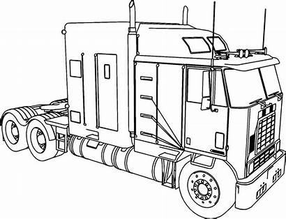 Coloring Pages Kenworth Tractor Trailer Printable Getcolorings