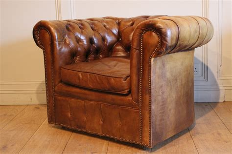 Leather Chesterfield Armchair by Sold Antique Leather Chesterfield Armchair Antique