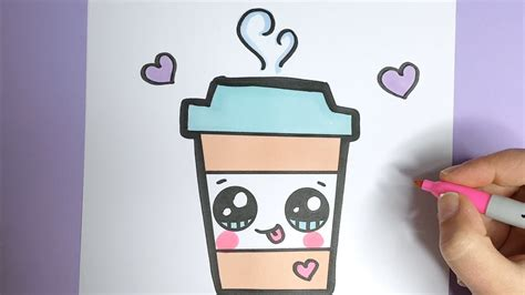 kawaii kaffee getraenk malen kawaii bilder zum nachmalen