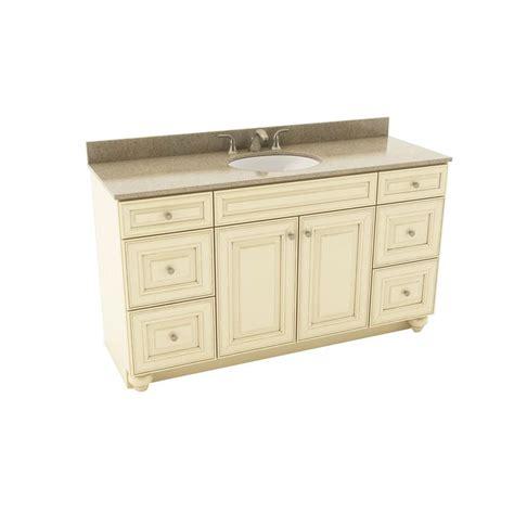 Silestone Vanity Top by American Woodmark 61 In Vanity In Hazelnut With
