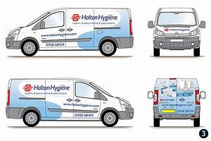 Delivery van graphics livery design halton hygiene runcorn for Van lettering design