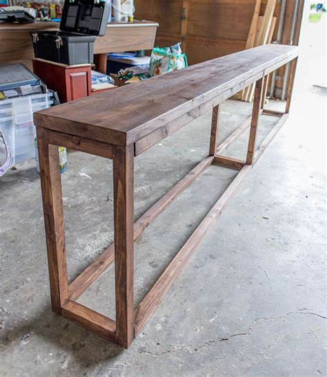 Behind The Sofa Table 25 Sofa Table Tutorial I Should Put