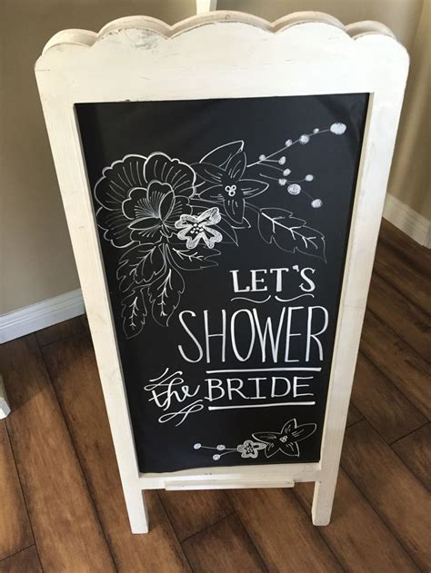 Chalkboard To Match The Invitations For Bridal Shower