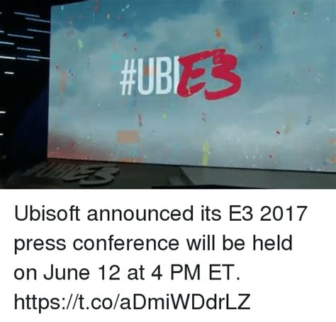 ubisoft announces year 3 ubisoft announced its e3 2017 press conference will be