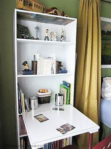 DIY Bookcase Turned Desk - At The Picket Fence