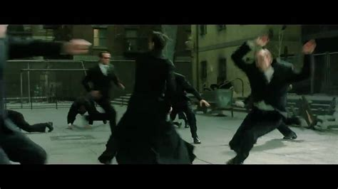 Matrix Reloaded Neo Fighting In Slow Motion Hd