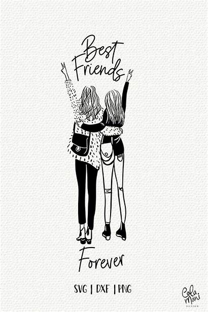Svg Friends Forever Friend Bff Clipart Gift