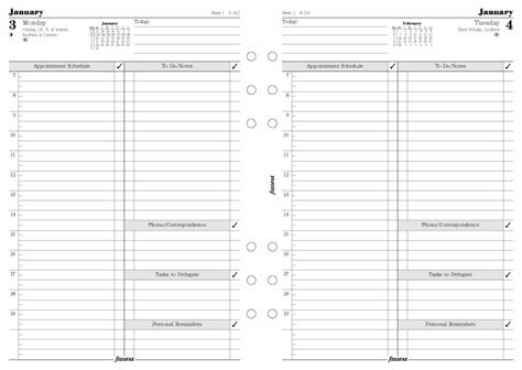 Time Management Diary Template by Philofaxy Time Management With Filofax Diary Options