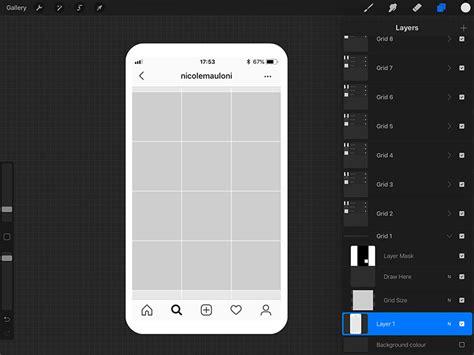 instagram grid planner  procreate ipad calligraphy