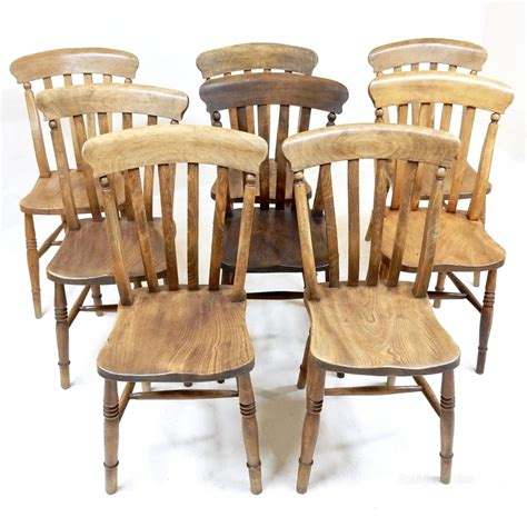8 Country Kitchen Chairs  Antiques Atlas