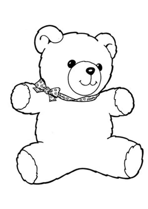 ausmalbild teddybaer mit schleife kostenlos ausdrucken