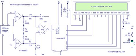 Pressure Transducer Circuit Diagram by Interfacing Spd005g Pressure Sensor To Arduino Circuit