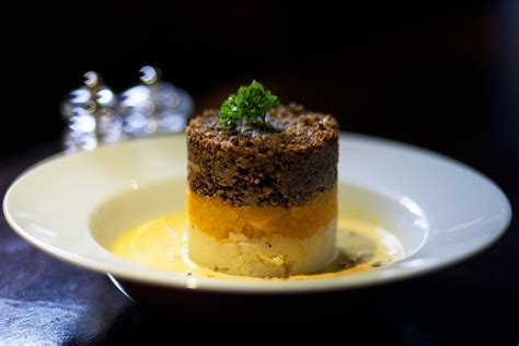 Haggis With Creamed Tomato & Whisky Sauce