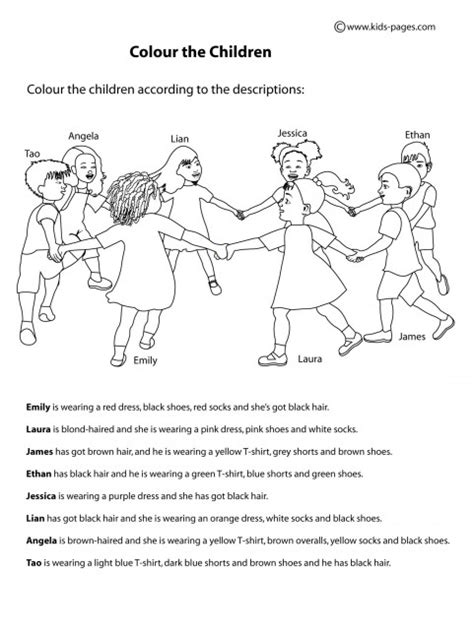 clothes and colours 2 worksheet
