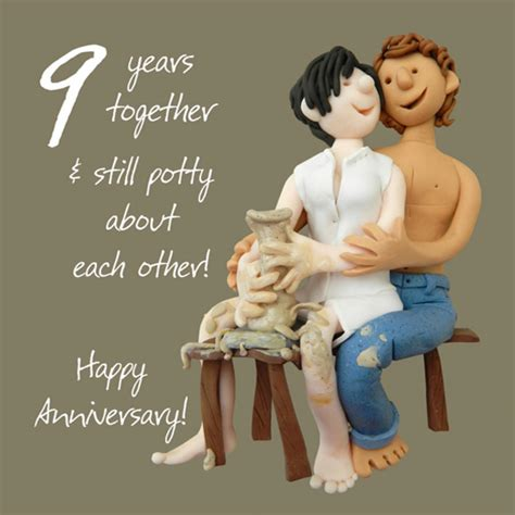 gift for 50th wedding anniversary 9th pottery anniversary greeting card one lump or