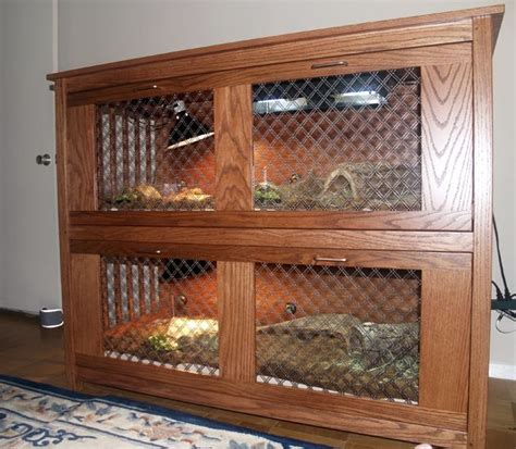 Hand Crafted Custom Turtle Cage by Hardwood Artisans