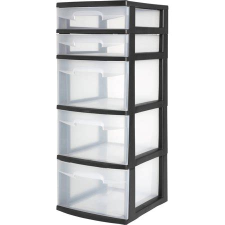 sterilite 5 drawer tower sterilite 5 drawer tower black available in of 2 or