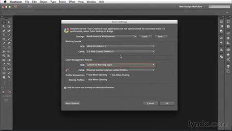 adjusting illustrators color settings