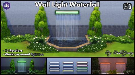 mod the sims wall light waterfall