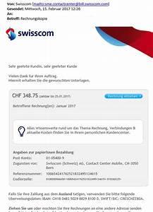 Callya Rechnung Einsehen : vorsicht bei phishing mails mit swisscom als absender ~ Themetempest.com Abrechnung