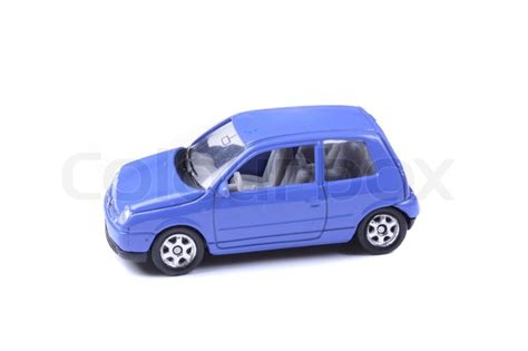car toy blue blue car toy on the white background stock photo colourbox