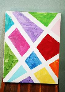 Simple Abstract Painted Canvas - Let's Explore