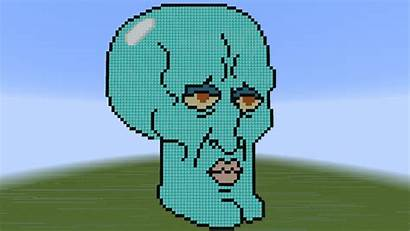 Pixel Squidward Minecraft Handsome Deviantart Mr Chat