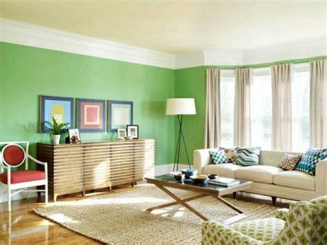 waende streichen ideen wohnzimmer gruen hell gardinen beige
