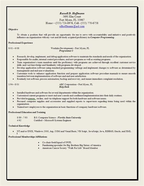 exles of resumes best resume objectives ziptogreen
