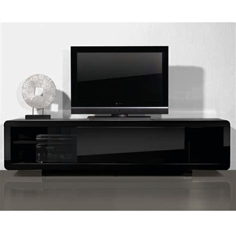 meuble tele bas laque noir