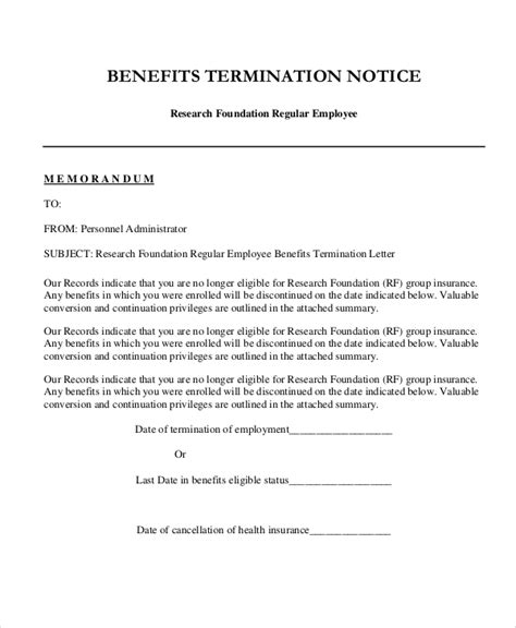 FREE 8+ Sample Employee Termination Letter Templates in MS ...