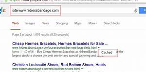 seo - How to solve Google cache displaying links to other ...