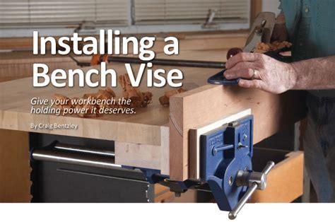 installing  bench vise