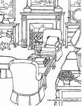 Living Drawing Coloring Adults Adult Perspective Rooms Drawings Some Fredgonsowskigardenhome sketch template