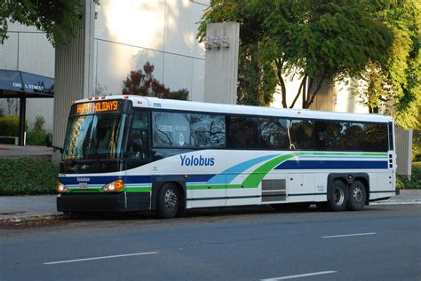 Yolobus | MCI D-Series commuter coach in downtown ...