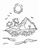 Coloring Pages Tropical Island Popular sketch template