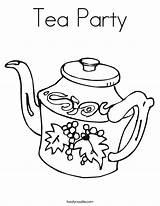 Tea Coloring Party Teapot Pages Printable Noodle Sheet Twisty Worksheet Service sketch template