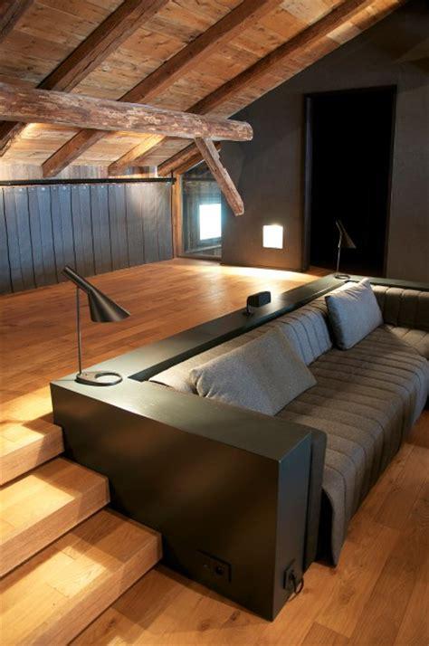 estrade cuisine estrade cheminéeles assises articulent les deux niveaux