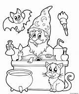 Cauldron sketch template