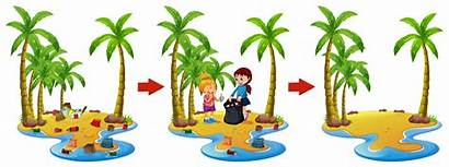 Before Beach Cleaning Vector Trash Plastic Clipart