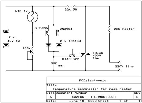 simple thermistor schematic simple free engine image for