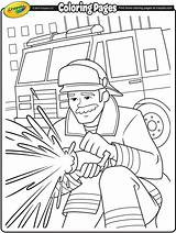 Firefighter Coloring Sheets Crayola Colouring Pages Firefighters Fireman Fire Firemen Drawing Preschool Thank Fighting Printables Firetruck Printable Idols Truck Boys sketch template